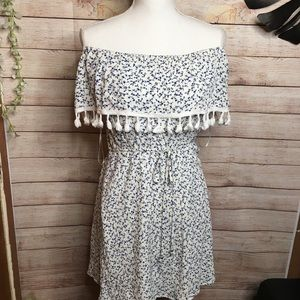 Paper Crane By Anthro shoulders off dress size L